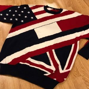 Nautical Patriotic America Flag Sweater